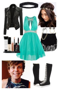 """""""Fancy dinner with Ash..."""" by searra-carriker ❤ liked on Polyvore featuring Doublju, Converse, George J. Love, NLY Accessories, Disney and Smashbox"""