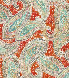 Kelly Ripa Multi Purpose Decor Fabric Bright and Lively Nectar Kelly Ripa, Diy Home, Drapery Fabric, Curtains, Home Decor Fabric, Fabric Wallpaper, Joanns Fabric And Crafts, Fabric Online, Paisley Print