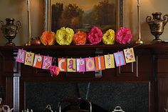 The mantle at the baby shower