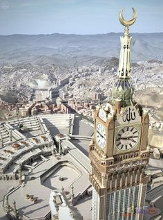 The Abraj Al-Bait Towers, also known as the Mecca Royal Hotel Clock Tower, is a building complex in Mecca, Saudi Arabia. Mecca Masjid, Masjid Al Haram, Mecca Madinah, Beautiful Mosques, Beautiful Places, Abu Dhabi, Places Around The World, Around The Worlds, Pilgrimage To Mecca