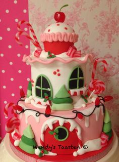 Christmas Candy House by Dutch Cakelady Wendy