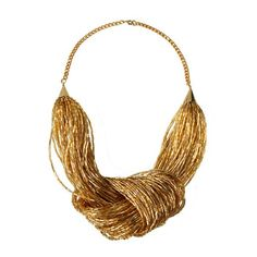 Bugle knot #Necklace #Gold. #Wedding. @Celebstylewed