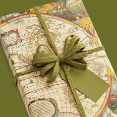 ~Mapping paper~ for anyone who's been diagnosed with wanderlust. | 27 Gift Wrap Ideas That Are Almost Too Cool To Open