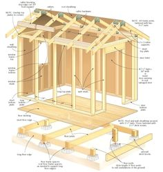 Amazing Shed Plans - construire son abri de jardin en bois- plan du cadre de la construction - Now You Can Build ANY Shed In A Weekend Even If You've Zero Woodworking Experience! Start building amazing sheds the easier way with a collection of shed plans! Diy Storage Shed Plans, Garden Storage Shed, Easy Storage, Extra Storage, Diy Storage Building, Backyard Storage, Cheap Storage Sheds, Garden Shed Diy, Tool Storage