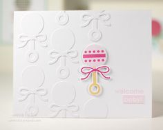 Welcome Baby Card by Lexi Daly for Papertrey Ink (May 2014)