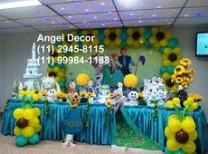 FROZEN FEVER VERÃO decoração mesa bolo festa infantil aniver