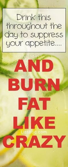 The ultimate fat burning detox drink recipe for weight loss! This infused water suppresses your appetite and tastes so refreshing! Hello flat tummy! Listotic.com