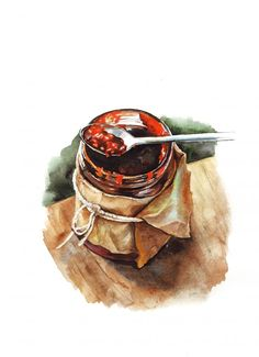 Watercolor food | Malikova Darya