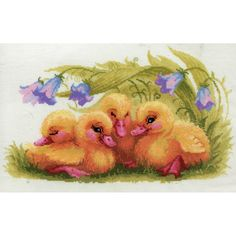Funny Ducklings - a RIOLIS cross stitch kit