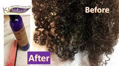 Before & after pic on 4a coils using Marshmallow Slip detangler.