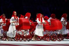 Dancers perform during the Opening Ceremony of the Sochi 2014 Winter Olympics at Fisht Olympic Stadium on February 7, 2014 in Sochi, Russia....
