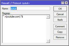 Blok youtube dengan layer7 mikrotik
