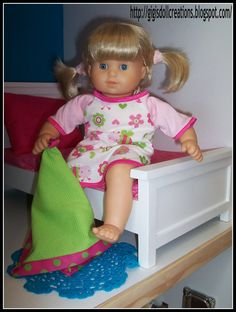 GiGi's Doll and Craft Creations: American Girl Doll Night Gown and Blankie Pattern Review