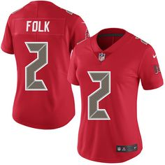 Women's Nike Tampa Bay Buccaneers #2 Nick Folk Limited Red Rush NFL Jersey