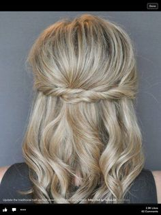 easy twist half up hair tutorial Twist Hairstyles, Pretty Hairstyles, Wedding Hairstyles, Church Hairstyles, Formal Hairstyles For Short Hair, Bridesmaid Hairstyles, Amazing Hairstyles, Simple Hairstyles, Easy Hairstyle