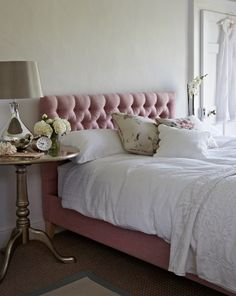 St Germain double bed in Rose £695  http://www.sofa.com/shop/beds/upholstered-beds/st-germain#220-HVLRSE-0-0