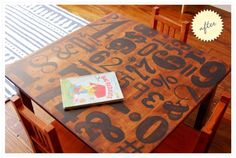 DIY Letterpress table top by annio2013