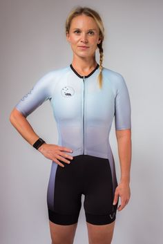 f22abd14383 ombre collection aero+ sleeved triathlon suit- mint
