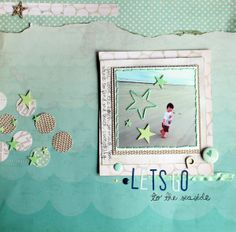 #papercraft #scrapbook #layout  Let's go by Amandacase @2peasinabucket