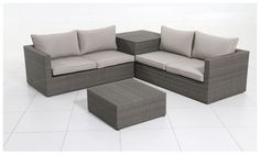 Buy Rattan 4 Seater Garden Corner Sofa and Table Set at Argos.co.uk, visit Argos.co.uk to shop online for Garden table and chair sets