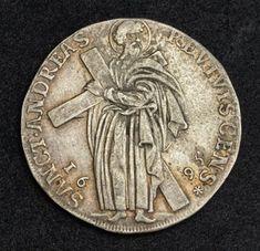 German coins Silver 1/3 Mining Thaler, Brunswick-Lüneburg-Calenberg, Mint Date 1695.