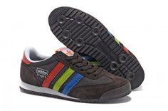 prezzo basso Trainer Uomo Adidas Originals Dragon sella e marrone e blu e  rosso e verde