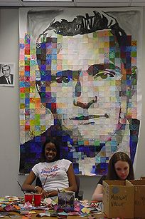 Chuck Close project- this would be a cool collaborative project- art club?