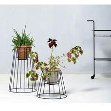 Ok Design - Cibele Plant Holder - Low - Black - £33
