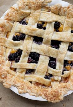 Blackberry Mango Curd Pie - Joanne Eats Well With Others