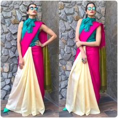 The Most Stylish Blouses Worn By Celebrities Lately Blouse Back Neck Designs, Sari Blouse Designs, Saree Designs Party Wear, Indian Designer Outfits, Indian Designers, Modern Saree, Stylish Blouse Design, Saree Trends, Stylish Sarees