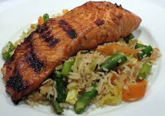 Dinner with the Welches: Grilled Teriyaki Salmon with Vegetable Stir Fry Rice