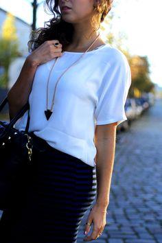 back to school look @ www.samieze.com new look striped midi skirt