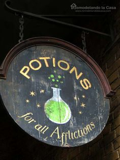 Potions for all Afflictions - Sign from the Wizarding World of HP