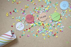 DIY Confetti invitation template by Oh Happy Day Confetti Poppers, Diy Confetti, Party Poppers, Confetti Cards, Diy Invitation, Wedding Invitations, Birthday Invitations, Formal Invitations, Invitation Templates