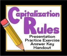 50 Best Capitalization Images Capitalization Rules School