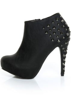 Promise Magneto Black Studded Ankle Booties