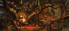 Princess and The Frog - Concept art and color keys