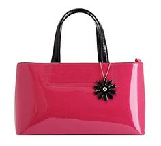 Generic Women's Smooth Bright Red Leather Handbag Medium -- To view further for this item, visit the image link.
