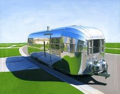 """""""The attention to detail in Leah Giberson's paintings of vintage Airstreams blows my mind."""" - Jaime Derringer #DesignMilk"""