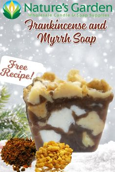 Free Frankincense & Myrrh Soap Recipe by Natures Garden.