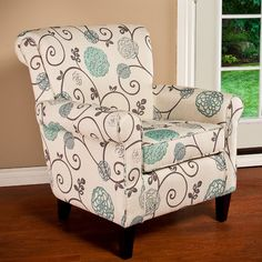 Wadham Flowered Armchair #birchlane  love this chair