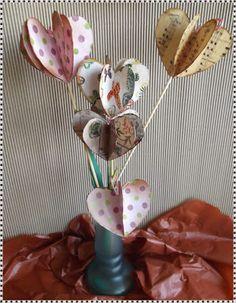 El Refugio de Lirtea: CORAZONES DE PAPEL EN 3D Paper Hearts, 3d Paper, Paper Envelopes, Manualidades