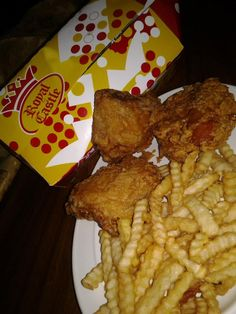 Trinidad Royal Castle Fried Chicken. Only missing the sweet ketchup, mustard, and pepper sauce. #aclassic