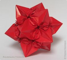 Lección magistral Kusudama: Kusudama Aelita + Papel MK.  Foto 2 Paper Art, Paper Crafts, Christmas Origami, Origami Paper, Amazing Art, Gift Wrapping, Creative, Flowers, Cards