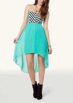 Chevron High Low Dress   Casual   rue21
