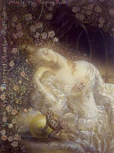Kinuko Y. Craft | The Frog Prince Meets Sleeping Beauty