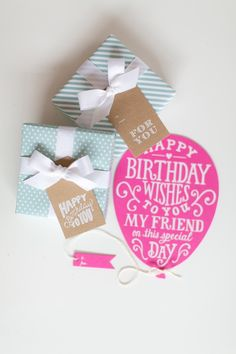 Pretty little presents from Sugar Paper. Photo by Bryce Covey (via Glitter Guide). It's Your Birthday, Birthday Wishes, Birthday Cards, Happy Birthday, Invitation Paper, Stationery Paper, Little Presents, Little Gifts, Stationary Gifts