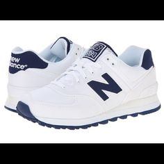 New Balance WL574 White and Navy. Brand new never been worn. Still in box(box a little broken) New Balance Shoes Sneakers