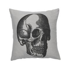 Discover the Day Birger Et Mikkelsen Skull Motives Cushion Cover - Grey - 50 x 50cm at Amara