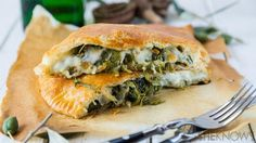 There are greens in this calzone. That cancels out the cheese calories, right?